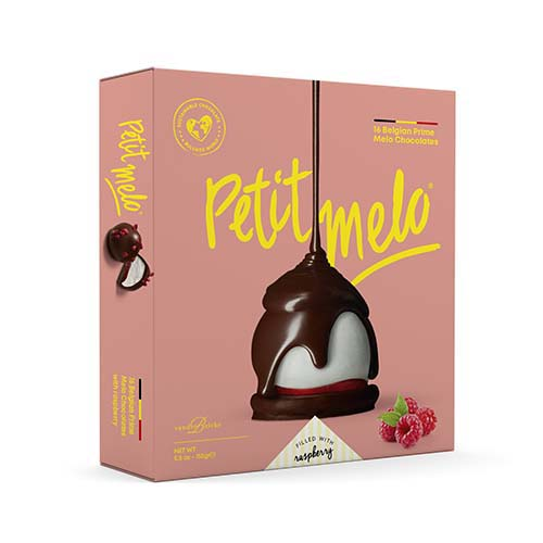 Petit Melo dark- 16 stuks - framboos