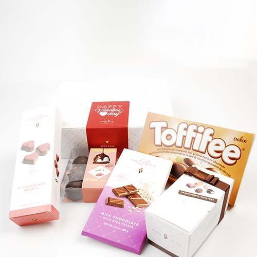 Valentine box chocolade en lekkers - Vandenbulcke Chocolade
